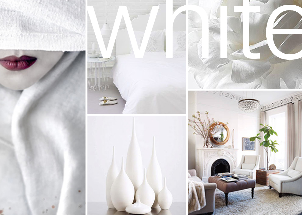 white collage