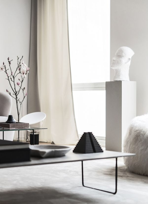 Objects In A White & Gray Living Room
